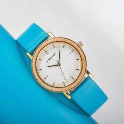 Zegarek drewniany Bobo Bird Amelie T21 niebieski