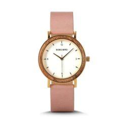 Zegarek drewniany Bobo Bird Amelie T21 różowy