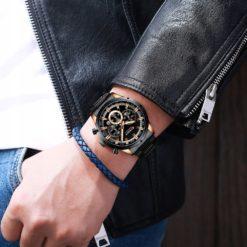 Zegarek Curren Navy Czarny
