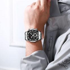 Zegarek Curren Navy Srebrny Czarny