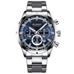 Zegarek Curren Navy Srebrny Niebieski
