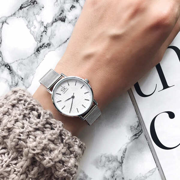 zegarek na dzien kobiet srebrny