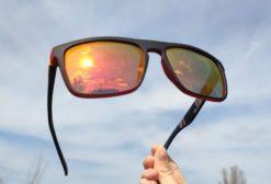Okulary przeciwsłoneczne Solenzio Urban Pomarańczowe