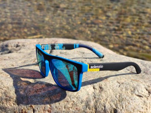 Okulary przeciwsłoneczne Solenzio Urban Niebieskie