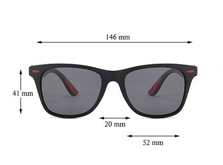 Okulary przeciwsłoneczne Solenzio Classic Czarne 6