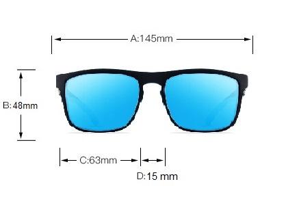 Okulary przeciwsłoneczne Solenzio Urban Niebieskie 7