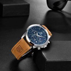 Zegarek Benyar Excellence srebrno granatowy